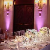 Elegant Purple Gray Ballroom Wedding