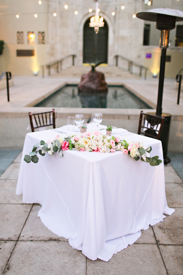 Wedding Cake With Flowers Up The Side