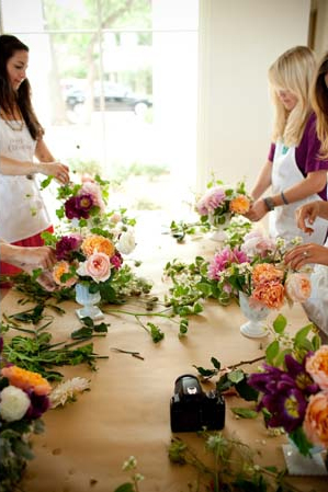 Flower Arranging Bridal Shower