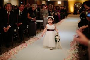 Flower Girl Dress With Burgundy Sash
