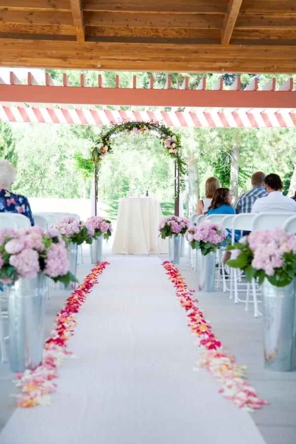 Flower Petal Lined Aisle Runner - Elizabeth Anne Designs: The ...