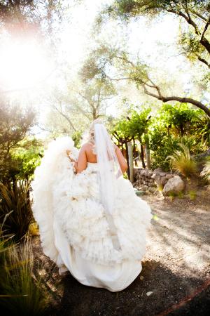 Full Ruffled Skirt on Wedding Gown