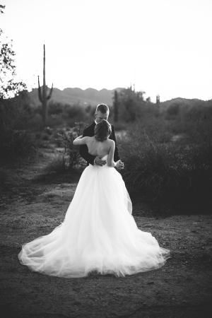 Gauzy Bridal Gown