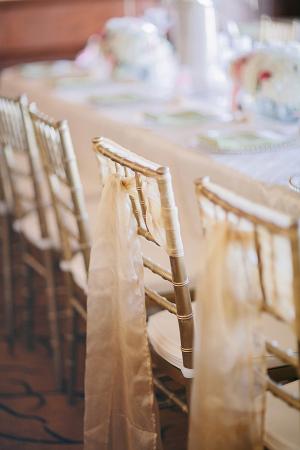 Gold Sash For Chivari Chair