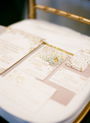 Gold Winter Stationery