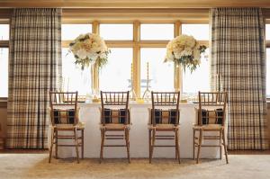 Gold and Cream Reception Decor Ideas