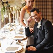 Gold and Cream Reception Table Decor