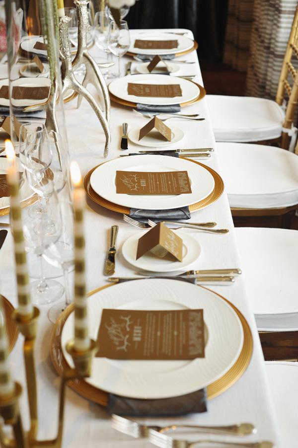 Gold And Cream Reception Table Decor Elizabeth Anne Designs The Wedding Blog