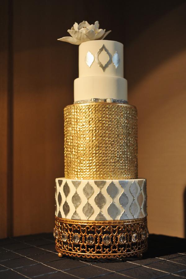 Gold And Silver Metallic Wedding Cake Elizabeth Anne Designs The