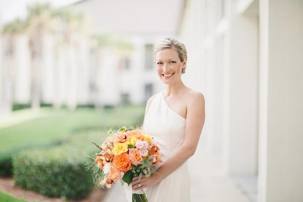 Gorgeous Orange Bridal Bouquet