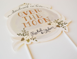 Hand Painted Cake Topper