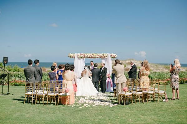 Intimate Outdoor Wedding Ceremony