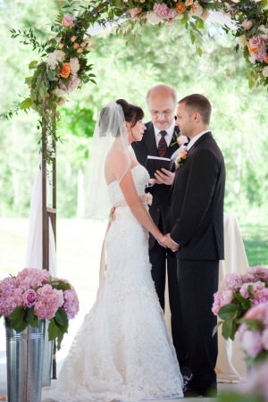 Iron Wedding Arch With Floral Garland