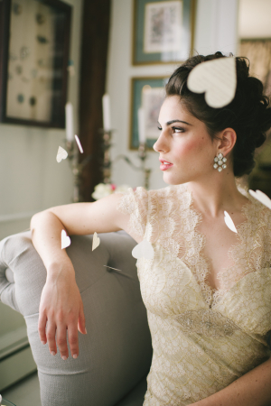 Ivory Lace Claire Pettibone Gown