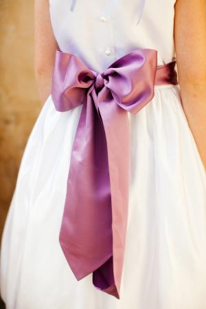 Lavender Flower Girl Sash