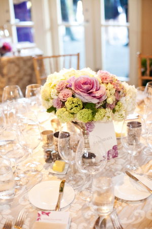 Lavender and Champagne Wedding Reception