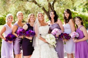 Lavender and Purple Bridesmaids Dresses