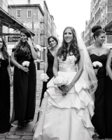 Long Classic Black Bridesmaids Dresses