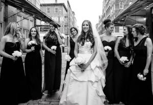 Long Classic Black Bridesmaids Dresses