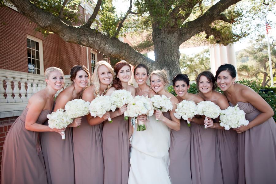 a2c7b246e40 Long Strapless Taupe Bridesmaids Dresses - Elizabeth Anne Designs ...