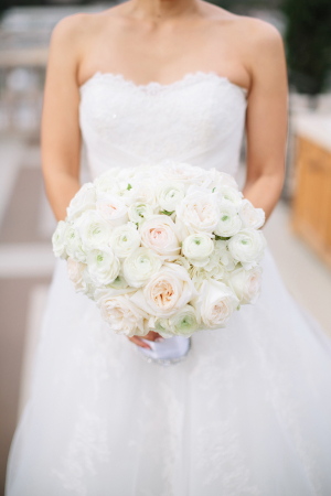 Lush Pink and Green Rose Bouquet
