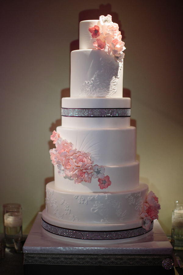 modern wedding cake pictures modern wedding cake with cascading flowers elizabeth 17478