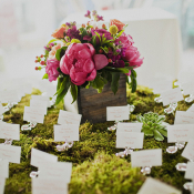 Moss and Floral Reception Decor Ideas