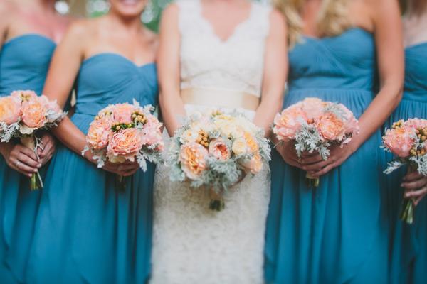 Ocean Blue Bridesmaids Dresses