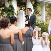 One Shoulder Charcoal Bridesmaids Dresses