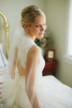 Open Back Lace and Tulle Wedding Gown