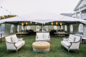 Outdoor Lounge Seating at Reception