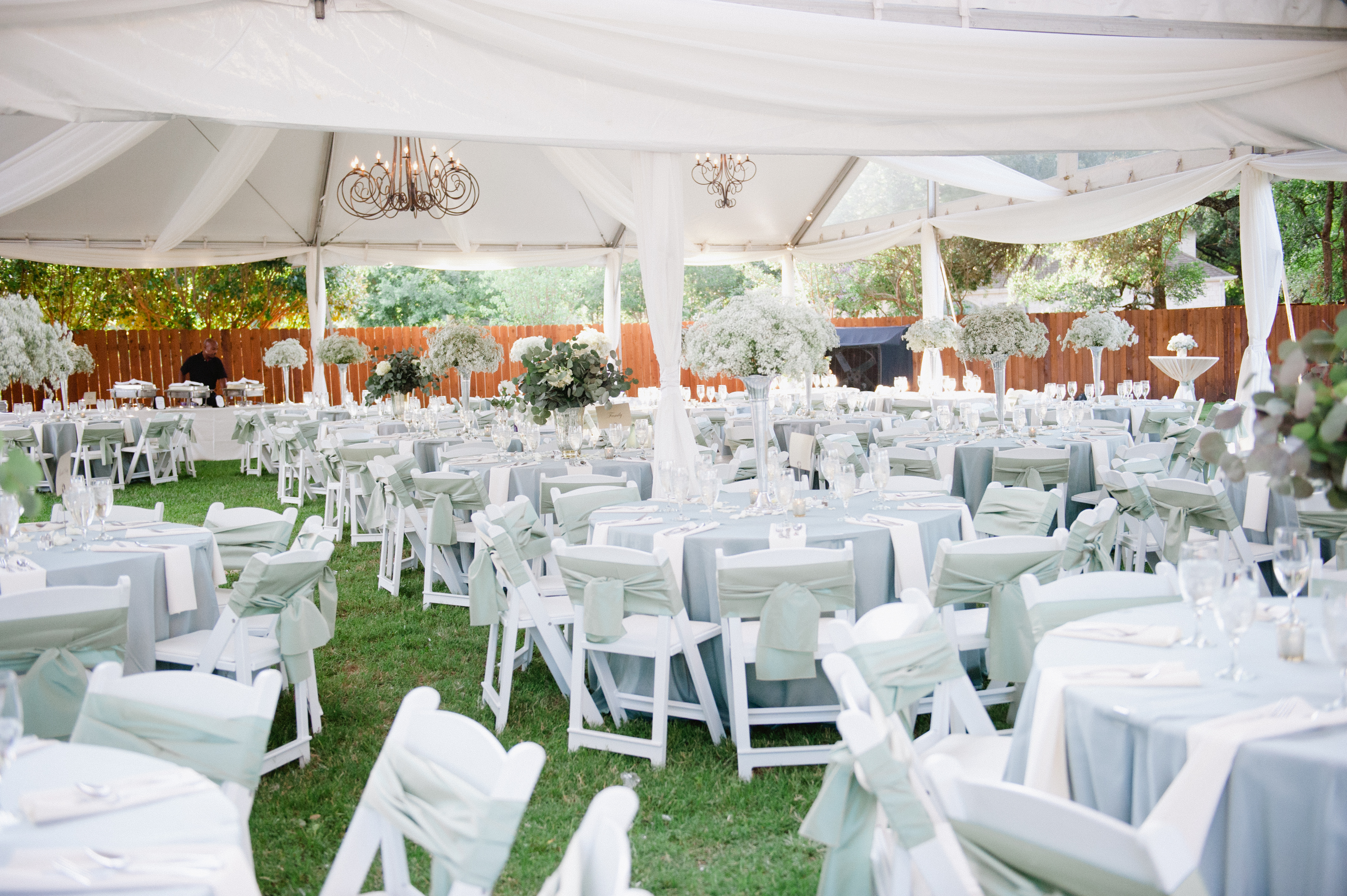 Outdoor Tent Reception With Chandeliers - Elizabeth Anne Designs The Wedding Blog & Outdoor Tent Reception With Chandeliers - Elizabeth Anne Designs ...