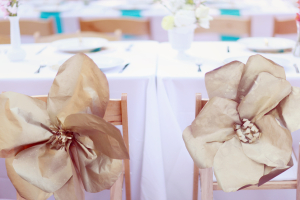 Paper Flower Chair Decor