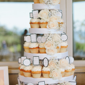 Peach and Cream Cupcake Wedding Cake