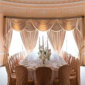 Peach and Cream Reception Decor Ideas