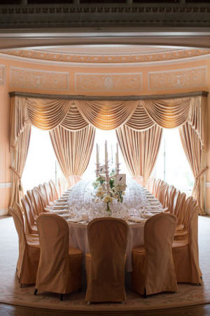 Peach and Cream Reception Decor Ideas
