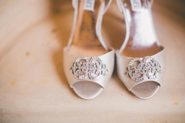 Peep Toe Rhinestone Bridal Heels
