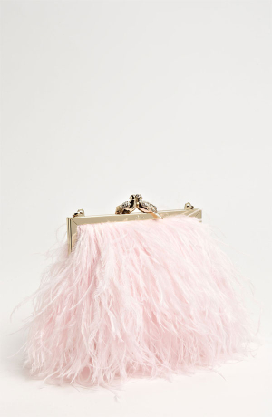 Kate Spade Pink Feather Clutch