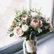 Pink Green Winter Bouquet