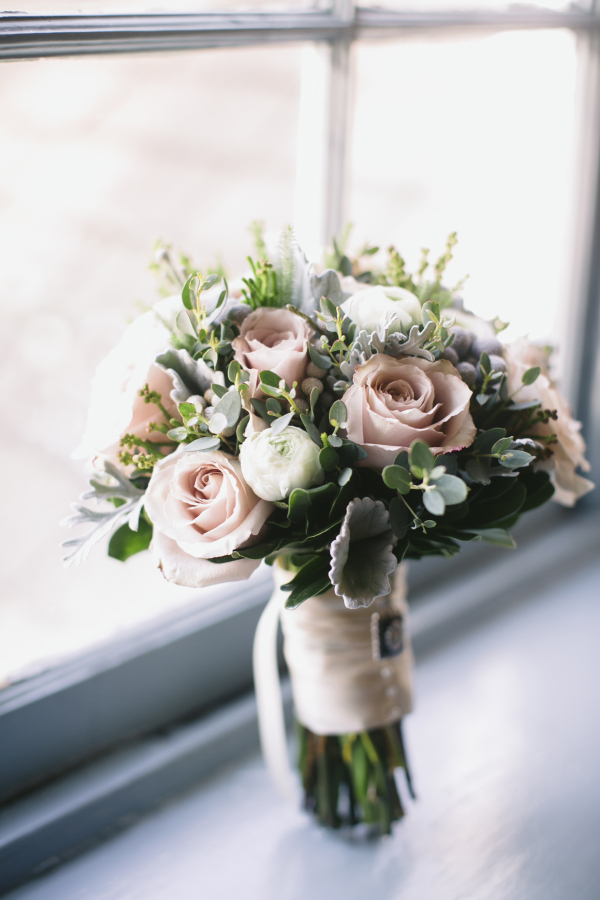 Pink Green Winter Bouquet