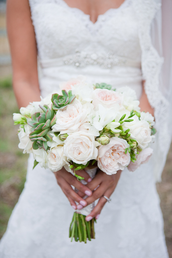 Pink Rose And Succulent Bouquet Elizabeth Anne Designs