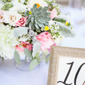 Pink Rose and Succulent Reception Arrangement