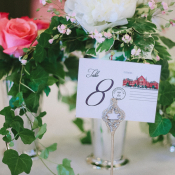 Pink White and Green Flowers in Silver Mint Julep Cup