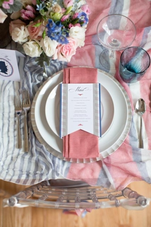 Pink and Blue Americana Inspired Table Decor