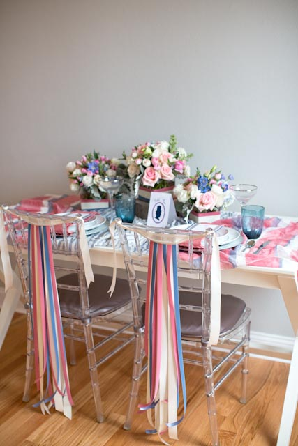 Pink And Blue Americana Inspired Table Decor Elizabeth Anne