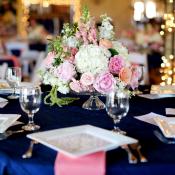 Pink and Cream Reception Flower Arrangement
