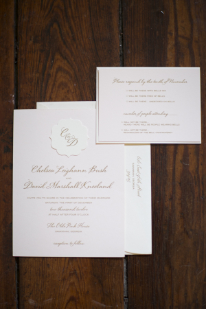 Pink and Gray Invitations