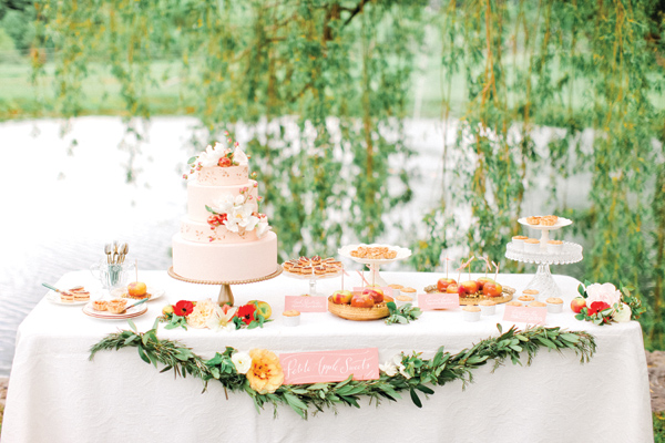 Pink and Green Classic Southern Dessert Table
