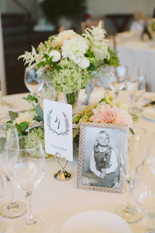 Pink and Green Reception Table Decor
