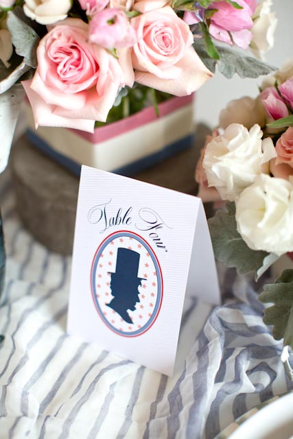 Presidential Inspired Place Cards